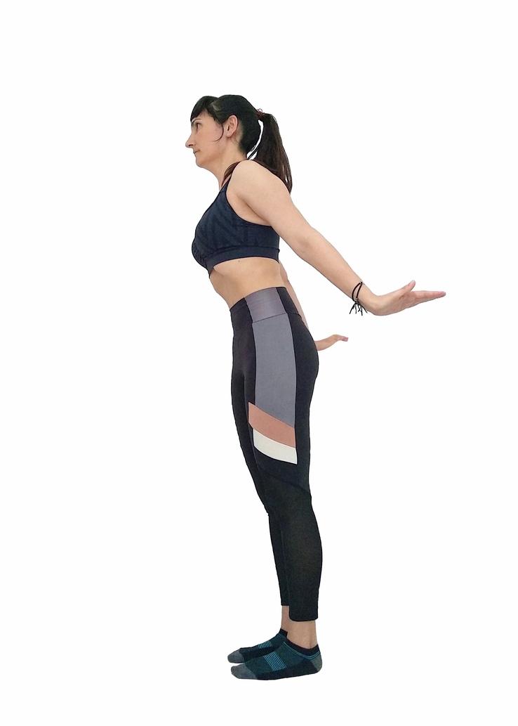Hipopresivos de pie. Postura Venus